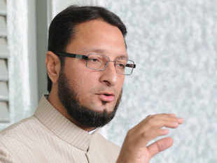 Barq, Asaduddin Owaisi (above) as also those from the BJP and Shiv Sena also trooped into the Well, forcing the adjournment of the House till noon for the first time.