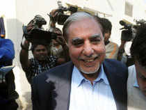 Zee Group Chairman Subhash Chandra (above) and his son Puneet Goenka were questioned for the second day today in connection with the alleged Rs 100 crore extortion bid from Congress MP Naveen Jindal's company.