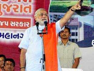 Narendra Modi looks set to secure a third election victory in Gujarat in a race that saw him pitted against the rest