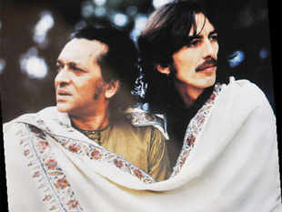 """Roger McGuinn of the Byrds introduced George Harrison to Ravi Shankar's music at Zsa Zsa Gabor's party in 1965. The Beatle was taken by the instrument and used it in """"Norwegian Wood"""""""