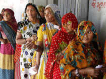 """""""Around 20-21 per cent voting has been recorded across 95 Assembly constituencies till 11 AM, where brisk polling is underway in second phase,"""" a state Election Commission official said."""