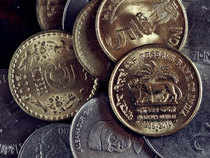 The rupee today nosedived to a three- week low of 54.85 by losing 37 paise against the dollar due to persistent demand for the US currency.