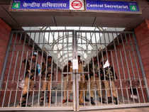 Nine stations were closed from early morning as people came only to be welcomed by boards that entry or exit to the stations will not be allowed today.