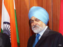 India's economic growth could get stuck at 5-5.5 per cent if a policy logjam continues, Montek Singh Ahluwalia, deputy chairman of the planning commission, said on Thursday.