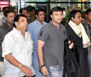 MIM MLA Akbaruddin Owaisi at Rajiv Gandhi International airport in Hyderabad on January 7, 2013 (PTI)