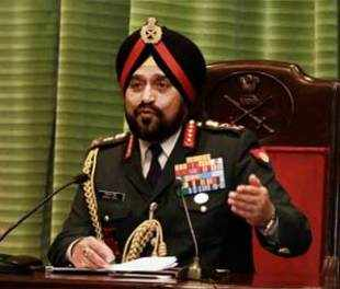 Chief of Army Staff, General Bikram Singh addressing a press conference in New Delhi.