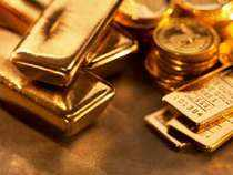 Gold in global markets, which normally set price trend on the domestic front, declined by USD 2.40 to USD 1,684.70 an ounce in New York last night.