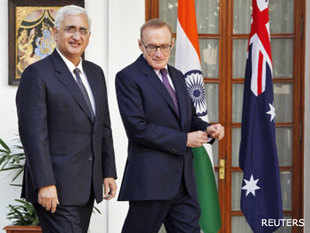 """We shall be commencing negotiations on a Civil Nuclear Energy Cooperation Agreement in March 2013,"" External Affairs Minister Salman Khurshid said here today after talks with visiting Australian Foreign Minister Bob Carr."