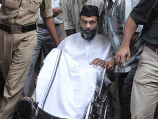 Madani, lodged in the Central Prison at Bangalore since his arrest in August, 2010, was admitted to Soukhya Hospital on January 7 for treatment of diabetes and related eye complication.