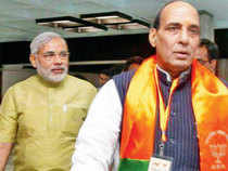 Will talk to Narendra Modi on his role: Rajnath Singh, BJP president