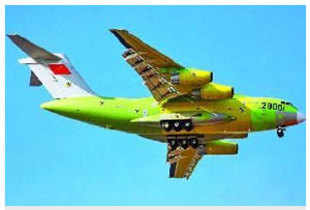 China successfully tested an indigenously-built freight plane capable of airlifting tanks and combat troops to difficult and inaccessible mountainous areas like its Tibet border with India.