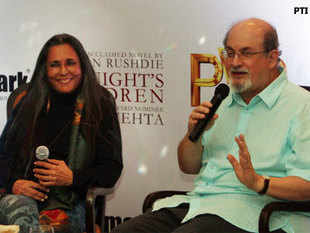 "According to Mehta, Rushdie, who has not only written the screenplay but has also rendered a voice-over in the film, was to be a ""surprise guest""."