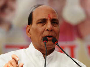 "BJP president Rajnath Singh praised Gujarat chief minister Narendra Modi in Bhopal on Sunday, describing him as the ""most popular"" and ""able leader"""