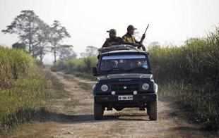 Forest guards in Kaziranga