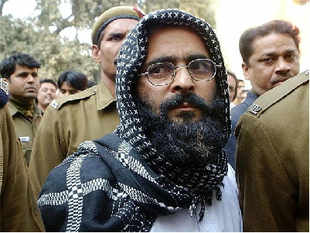 Afzal Guru was hanged and buried in Tihar Jail earlier this morning.