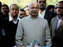 Afzal Guru's hanging was as sensitive as Kasab's; if news becomes public, then work does not get done, says Home Minister Sushil Kumar Shinde.  In pic: Home Minister Sushil Kumar Shinde adressing press after hanging Afzal Guru, the militant convicted in attack on Parliament in 2001, in New Delhi.