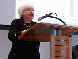 Bank has the option to hold interest rates near zero even after reaching near-term targets for inflation or unemployment: Federal Reserve VC Janet Yellen