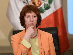 "EU foreign policy chief Catherine Ashton said it was with ""regret"" that she learned of the execution of Afzal Guru last Saturday."