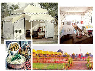 The luxury huts and Swiss cottages that have come up to cater to the demand from high networth individuals (HNIs) – Indian or foreign – offer all creature comforts including cuisine that's an eclectic mix of continental, Italian and satvik.