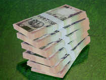 Rupee dropped by 34 paise to 54.41 due to renewed dollar demand from banks as the US currency strengthened in the overseas market.