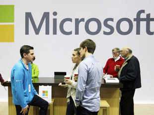 Microsoft launched its Office 365 for businesses in India, which will provide seamless sharing of data across PCs and mobiles using cloud computing technology. (Pic: AP)