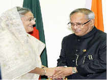 Bangladesh government reacted sharply to top opposition leader Khaleda Zia's refusal to meet visiting President Pranab Mukherjee.