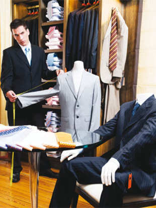 The rising number of boutiques and drapers for men in west Patel Nagar is an indication that men are equally conscious about what they put on.