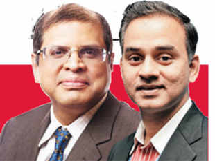 Amit Chandra, MD, Bain Capital India and NV 'Tiger' Tyagarajan, CEO, Genpact.
