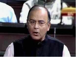 Leader of Opposition in the Rajya Sabha Arun Jaitley speaks in the House in New Delhi on Friday.