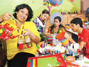 The interior designer was doing up a design studio in Kolkata in January 2011 when the clients asked her to include some artwork to brighten up the place.