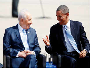 Israel's President Shimon Peres on Wednesday said that he trusts US President Barak Obama's policy on Iran's nuclear programme.