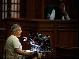 Sheila Dixit-led Congress government in Delhi presented a tax-free budget on Wednesday, keeping an eye on the state assemble elections due in November.