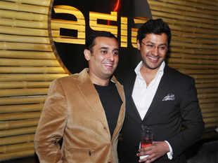 Amit Burman (Left) and Rohit Aggarwal at the launch of Asia 7, the restaurant at the Clarion Collection Qutab Hotel, New Delhi. (Pic: BCCL)