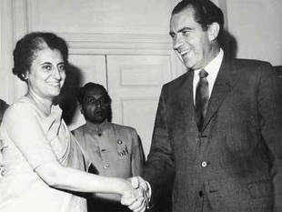 "In pic: File photo of Former Prime Minister Indira Gandhi with former US President Richard Nixon.  ""We wish now to resume relations that were interrupted in mid-1971 on the basis of this new situation,"" Richard Nixon had said."