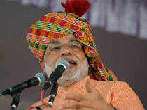 During his speech Modi laid the importance of agriculture in development and said that manufacturing, agriculture and services are three pillars of development.