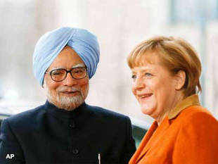"Before he left for Berlin for the second round of India-Germany Intergovernmental Consultations, PM Singh said, ""I will seek Chancellor Merkel's support for an early conclusion of a balanced India-EU Broad-based Trade and Investment Agreement."""