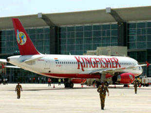 Kingfisher is considering an option to seek permission to operate flights on a cash and carry basis till such time it clears AAI dues from the state-run authority.