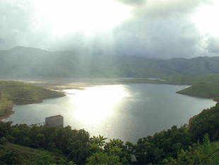 Lakya pollution control dam at Kudremukh on Western Ghats