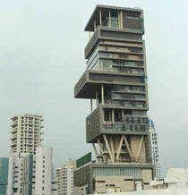 """A source said that if a police post was sanctioned for Antilia, the police would not have to construct it and """"it will be financed by the Ambanis"""". (AFP photo)"""