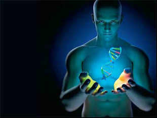 If your genes incline more toward the orange green and white, your genetic material is all your own.