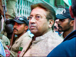 Pervez Musharraf's party today questioned the impartiality of the judge who revoked the former military ruler's bail and ordered his arrest.