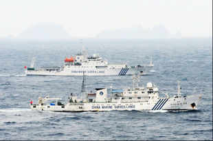 Chinese vessels drive out Japanese boats from disputed islands