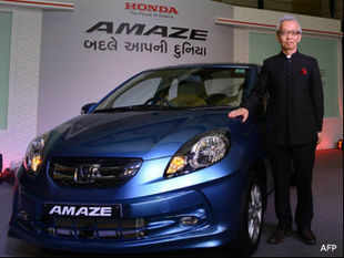 Honda has been promoting the Amaze claiming it to be the most fuel efficient model in India, with the diesel variant delivering mileage of 25.8 kilometre per litre (kmpl), while the petrol variant delivers 18 kmpl.
