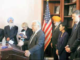 Indian officials have been briefing US lawmakers after discovering that the principal movers of the Sikh caucus were Khalistani activists.