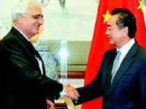Minister for external affairs Salman Khurshid held a three-hour-long discussion with his Chinese counterpart Wang Yi but did not ask China's leaders why the People's Liberation Army crossed over to the Indian side in Ladakh