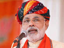 Lashing out at foreign policy of the UPA government, Narendra Modi alleged that New Delhi is being ruled by weak leaders.