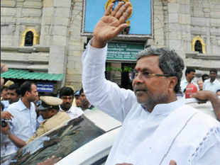 64-year-old Siddaramaiah was administered the oath of office and secrecy by Governor H R Bhardwaj in front of thousands of his supporters.
