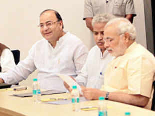Modi, who is here to attend the BJP Parliamentary Board meeting ahead of the party's National Executive meeting in Goa on June 8 and 9.