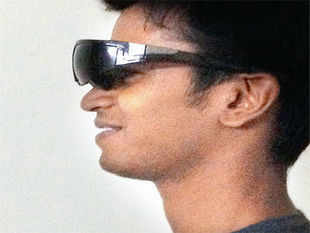 A finalist at Next Big Idea, showcasing low-vision device from IIT-Madras.