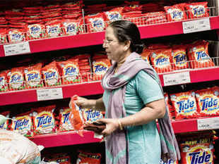 """P&G's India business has been growing at over 20% for a decade, but it is still a small part in its global revenues."""